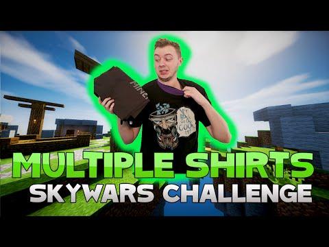 THE MULTIPLE SHIRT CHALLENGE! ( Hypixel Skywars )