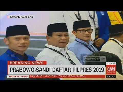 Didampingi AHY, Prabowo-Sandiaga Uno Resmi Daftar Capres-Cawapres di KPU #PrabowoSandi