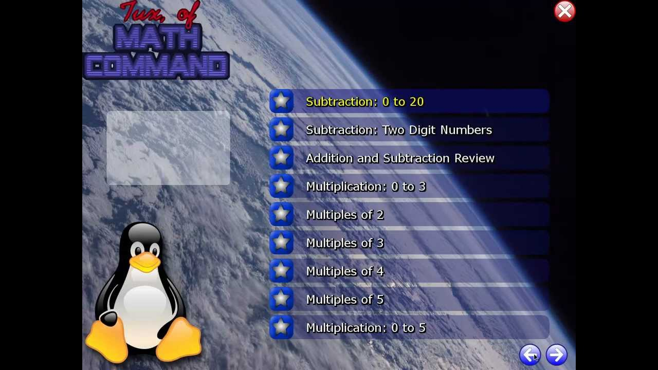 tuxmath windows 7