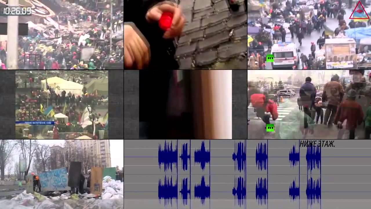 Расстрел небесной сотни на площади Независимости в Киеве (видео майдана с разных камер, посекундно)