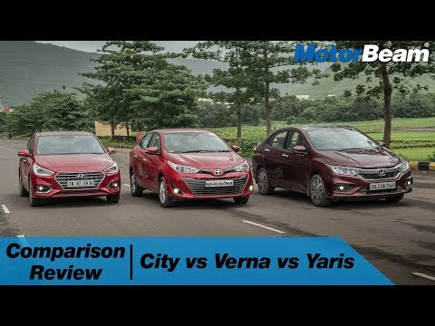 Honda City Vs Hyundai Verna Vs Toyota Yaris - Comparison Review | MotorBeam