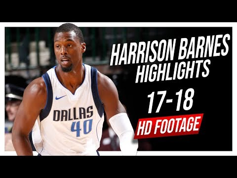 Mavericks SF Harrison Barnes 2017-2018 Season Highlights ᴴᴰ
