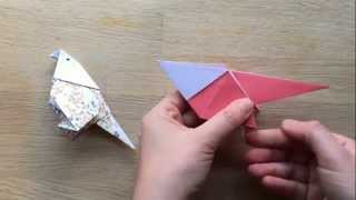 Origami Budgie Bird   cute and easier than you think