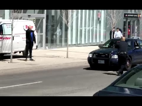 Toronto Police Confront Man After Van Hits Pedestrians