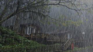Шум Дождя по Крыше старой | Звуки дождя и грома для сна и радует душу