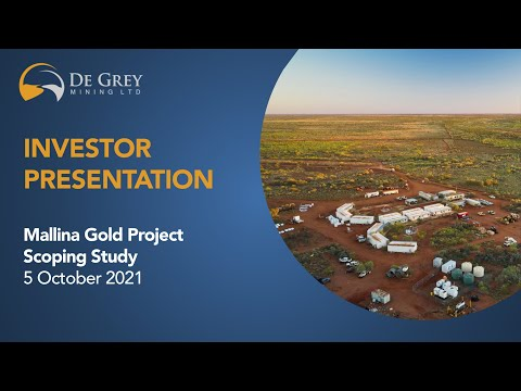 Mallina Gold Project Scoping Study Conference Call