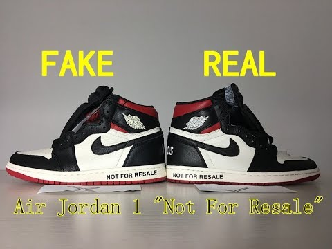 info for 75640 02492 Comaprison Real VS Fake Air Jordan 1 not for resale