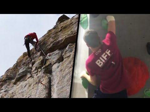 Adam Rivers - VIDEO: Teen with 1 arm is a successful rock climber
