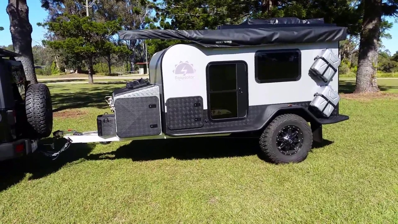 Rolasolar Has A New Tough Offroad Teardrop Camper Youtube