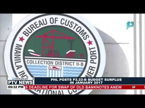 PHL posts P2.22-B budget surplus in January 2017