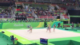 ロシアのリボン!金メダルの演技 リオ五輪新体操