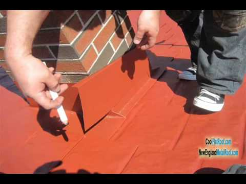 Metal Roof Chimney Flashing How To Prevent Leaks Youtube