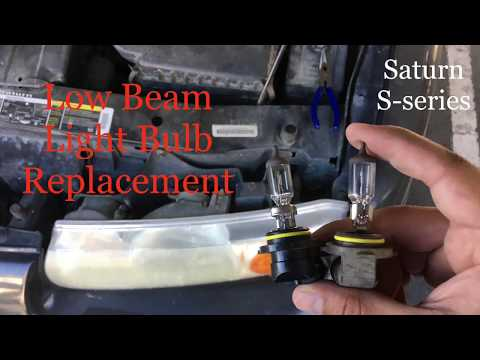 2001 Saturn SL2 Low Beam Bulb Replacement How-To/Tutorial