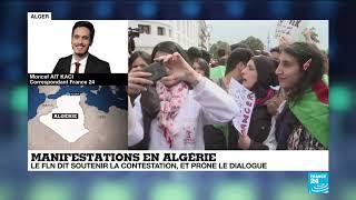 En Algérie, le FLN dit soutenir la contestation, et prône le dialogue
