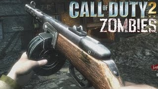 "COD2 Guns Zombie Mod! ""Call of Duty Zombies"" Der Riese WaW Gameplay"
