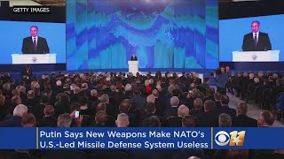 Putin Unveils Russia's New 'Invincible' Nuclear Weapons, Blames U.S. For Withdrawing From Treaty
