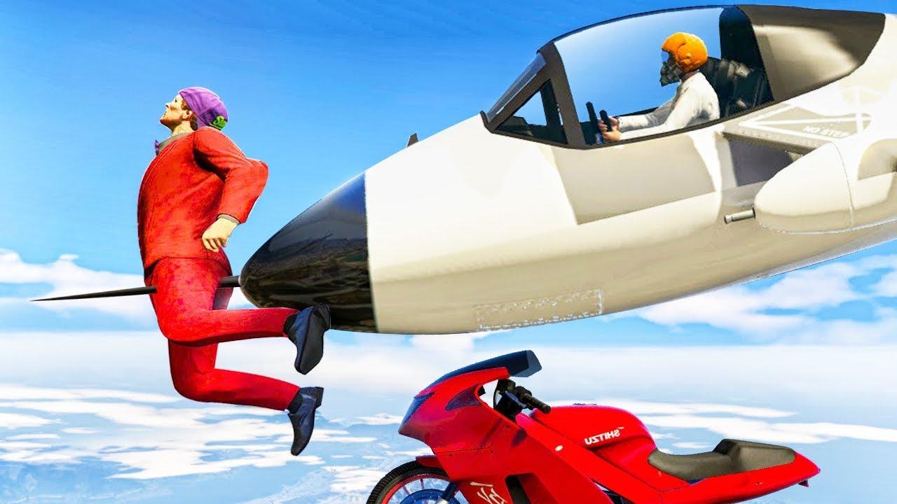 Brutal Jets Vs Bikes Gta 5 Minigames Youtube