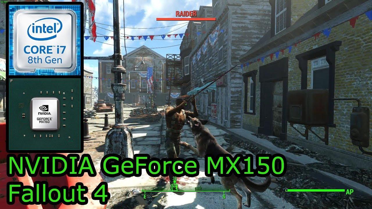 NVIDIA GeForce MX150 - Fallout 4