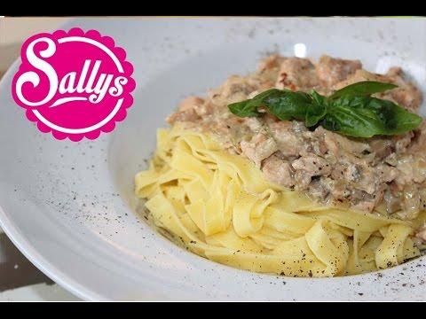 Lachssoße für Nudeln / Pasta al Salmone / Sallys Welt