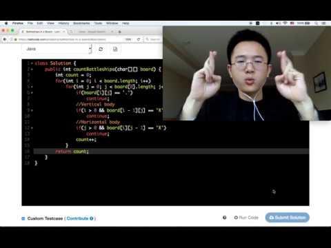 15 min Java Coding Challenge - Battleships In A Borad