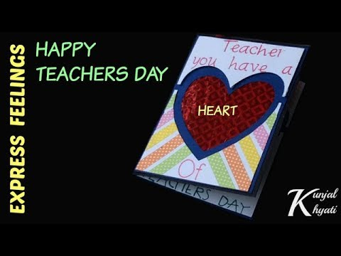How To Make A Teachers Day Card Diy Thank You Card For Teachers