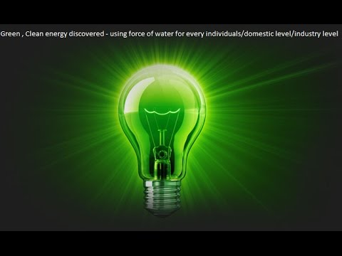 Green Electricity | Power Generator | Free