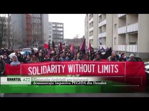 Germania: Activiștii pro-imigranți demonstrează împotriva PEGIDA din Dresden