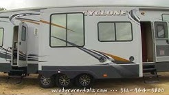 Rent a Cyclone 5th Wheel Toy Hauler at Woody RV Rentals