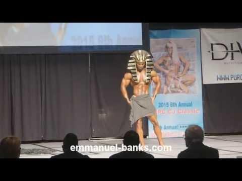 Emmanuel Banks IFBB Pro Men's Physique Guest Posing at the 2015 Sunshine Classic