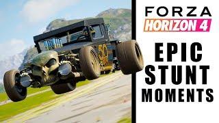 Forza Horizon 4 - EPIC STUNT MOMENTS
