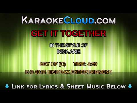 India.Arie - Get It Together (Backing Track)