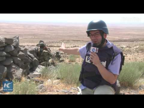 On the frontline: Xinhua reports from battlefield in Sweida, Syria