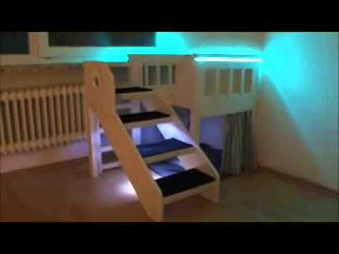innenbalkon hochbett youtube. Black Bedroom Furniture Sets. Home Design Ideas