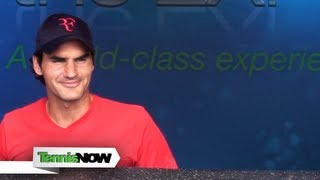 Roger Federer Autograph Signing W&S Open 2012 - Tennis Now