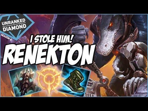 I STOLE HIS RENEKTON - Unranked to Diamond - Ep. 63 | League of Legends thumbnail