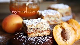 Apricot Tart Cake Recipe - Apricot Meringue Crumb Cake - Heghineh Cooking Show