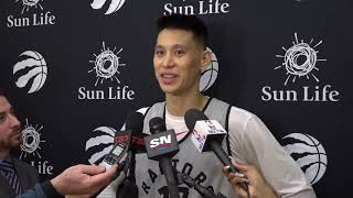Practice Interview Jeremy Lin Talks Upcoming Playoff's & Raptors vs Pelicans on March 8 2019