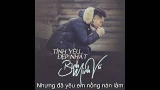 Tình Yêu Đẹp Nhất - Bình Minh Vũ Lyricc