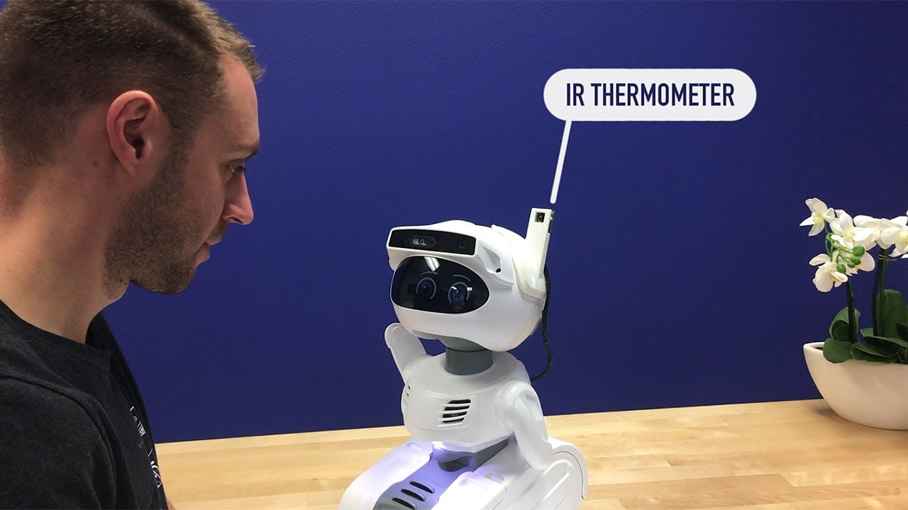 Misty Ii Robot Temperature Screening Coronavirus Fever Youtube