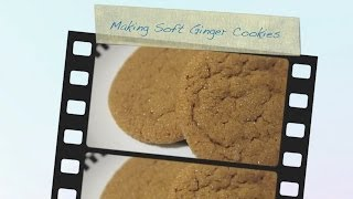 New Food: Making Soft & Chewy Ginger Cookies From One Perfect Bite - Photo Montage
