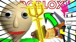 TRIDENT AQUAMAN vs BALDI'S no ROBLOX