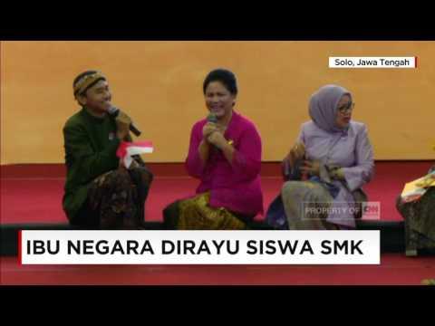 Video Lucu, Ketika Ibu Iriana Jokowi Dirayu Siswa SMK - Ibu Negara di Hari Kartini
