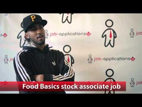 Food Basics Stock Associate Job