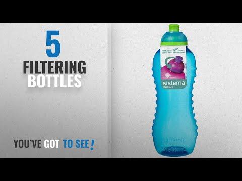 Top 10 Filtering Bottles [2018]: Sistema Twist 'n' Sip BPA Free Water Bottle, 460 ml - Blue
