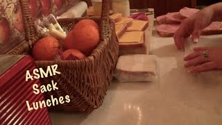 ASMR Making paper bag lunches/paper bag crinkles (No talking)