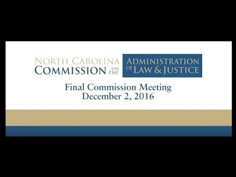 North Carolina Commission on Administration of Law and Justice