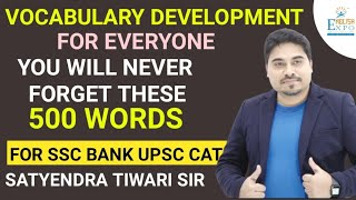 Vocabulary Development in Hindi & English for SSC, Banking by Satyendra Tiwari Sir 4 Hour Long Video