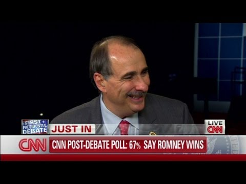 David Axelrod, Obama campaign senior adviser, weighs in on the 1st debate