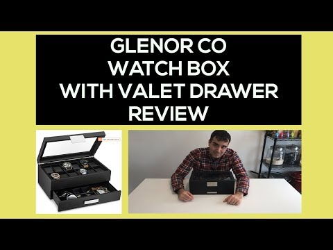 Glenor Co Watch Box With Valet Drawer Review