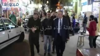بالفيديو :محافظ المنيا يتفقد عددا من شوارع وسط المدينة لإعادة تنظيم خطوط سير السيارات